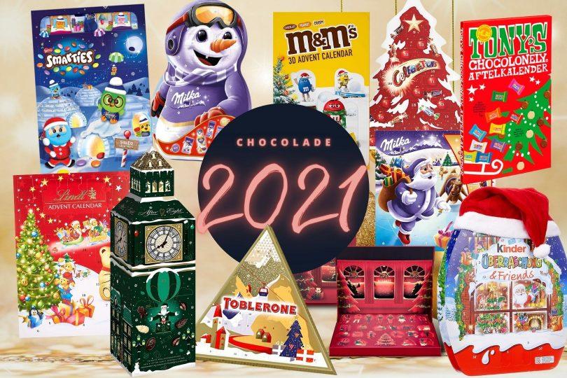 Chocolade adventskalender 2021 compleet overzicht